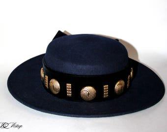 Vintage Eric Javits Hat 90s Different World flow