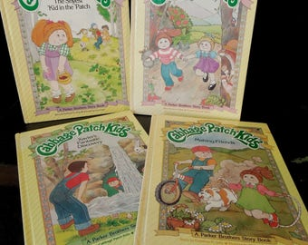 Four Children's Books - Cabbage Patch Kids Children's Books - Vintage 1980's Making Friends Shyest Kid Xavier's Discovery Just Right Family