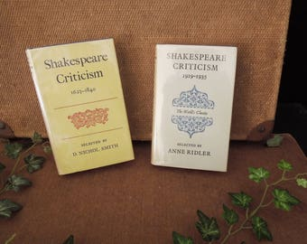 The World's Classics Shakespeare Criticism Books 1623 to 1840 and 1919 to 1935 - Pocket Sized Vintage Books For Collector