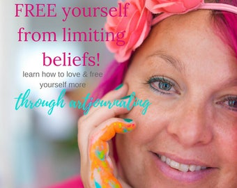 Listing if NOT in the EU: NEW Online Class, 12 weeks, Love & Free yourself more, through art journaling
