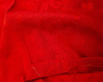 KIMONO FABRIC BUNDLE of 6 pieces Red Silk