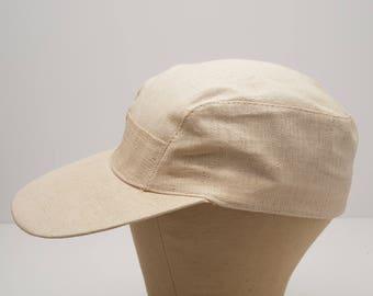 Vintage 1950's Japanese Woven Bamboo Hat Japan fishing ball cap woven mesh 7-5/8ths