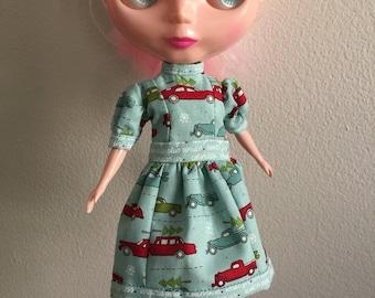 Tree farm holiday christmas dress for Blythe doll