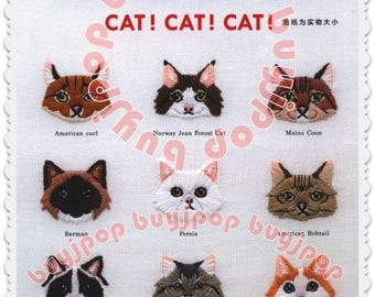 Chinese Edition Japanese Craft Pattern Book Embroidery 380 Cat Meow Meow  NEW 2018