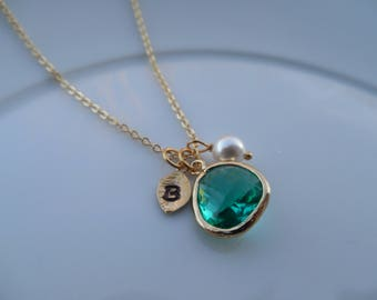 Next Day Shipping, 10% Off - Gold/Silver December Birthstone, Blue Topaz Birthstone necklace, Bridesmaid Necklace, Birthday Gift