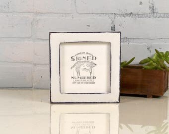 """5x5 inch Square Picture Frame in 1x1 Flat Style with Super Vintage Deep Purple under White Finish - IN STOCK - Same Day Shipping - 5 x 5"""""""