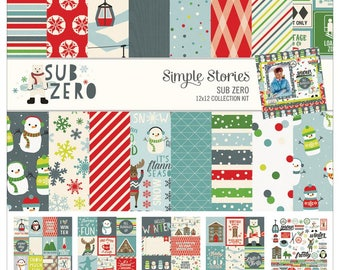 "Sub Zero Simple Stories Collection Kit 12""X12"" (9420) 12x12 Paper"