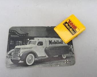 Vintage Metal Paper Clip . Moor Man's Feed . Metal Sign Advertising . Unique