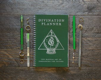 Medium Weekly Planner (180-Pages) | 12 Months | Green Divination Planner