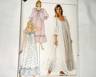 Uncut vintage BUTTERICK NightGown & Robe Pattern 4864 • size L -XL • Factory Folded