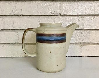 ON SALE Vintage Japanese Asian Handmade Ceramic Pottery Pitcher Jug Carafe