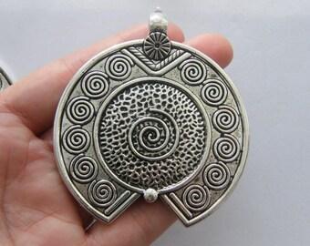 BULK 5 Pendants antique silver tone M898