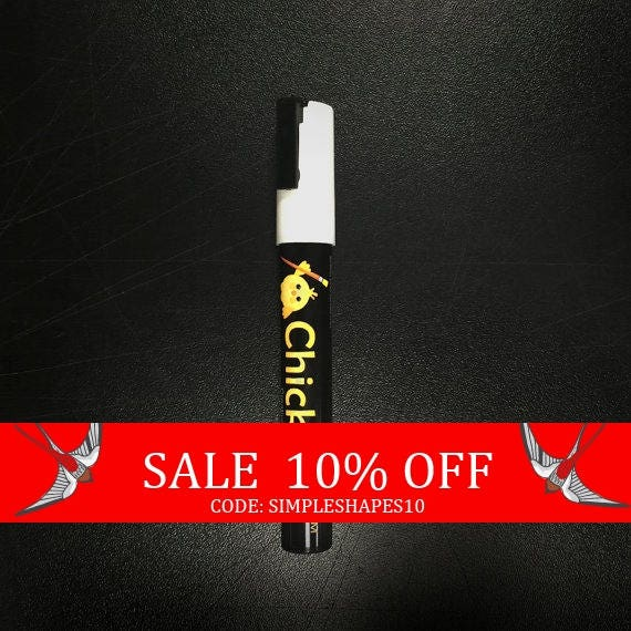 Summer Sale - Chalk Ink - Chalkboard Marker - Chalk - Chickarts - White 6mm - White Chalk Marker