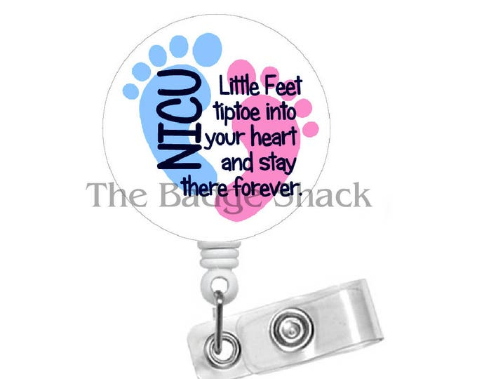 NICU Nurse Retractable ID Felt Badge Holder - NICU Badge - Nurses Badge Holder - Nurse Badge - Baby Badge Holder - Nursery Badge