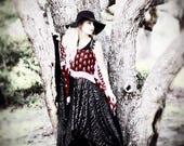 Sale L XL Stevie Nicks Boho Maxi dress, Gypsy soul wiccan dress, Lace Bohemian maxi sundress, Hippie festival dress, True rebel clothing