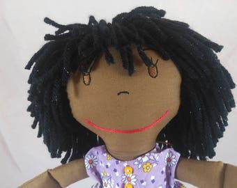 Cuddlesome Rag Doll, Yellow Hair Rag Doll,Removable Clothes,Rag Doll,Fabric Doll, Stuffed Doll,Plush Doll, Rag Dolls