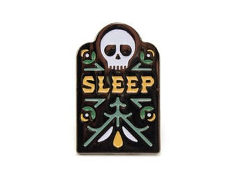 Sleep - Soft Enamel Pin w/ Black Rubber Pin Clutch
