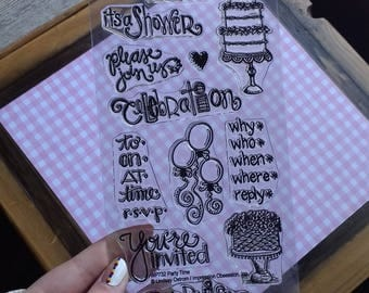 Party Cling Stamps