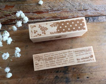 New-Japanese Wooden Rubber Stamps - Vintage style Stamps at your choice for Journaling, Scrapbooking, Packaging