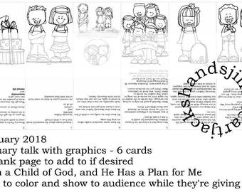 lds primary talk I Am a Child of God, and He Has a Plan for Me - January 2018 monthly theme