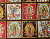 Virgen de Guadalupe Mexican Religious Fabric Pattern