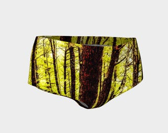 Baguio Forest in Yellow Mini Shorts