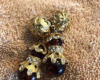 Clip on dangle earrings