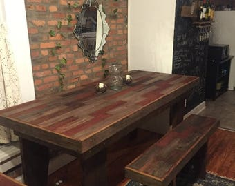 Barn Wood Table Etsy
