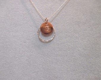 Sterling Silver/Copper Tulip Necklace