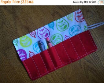 Sale Late summer SALE Crayon Roll up pears