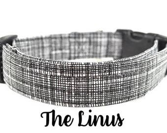 Black and White Dog Collar - The Linus