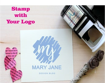Custom Stamp for Business, Custom Rubber Stamp with your Logo,  Business Stamp , Personal or Weddings