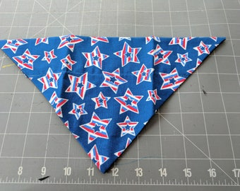 Dog Bandana, Patriotic, Stars, July 4, Independence Day, Summer, neckerchief, scarf
