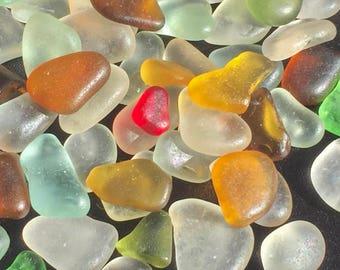 A-Sea Glass, Beach Glass of Hawaii! RED! GOLD! SUPERIOR collection! Genuine Sea Glass! Hawaiian Sea Glass! Unique Gift! Seaglass!