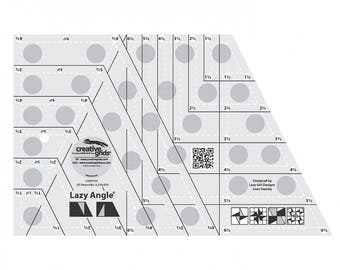 Lazy Angle Ruler - Creative Grids Quilting Tool - CGR3754 - Non-Slip Ruler