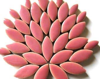 Rose Pink Ceramic Petal Leaves 2 Sizes Mix//Mosaic Supplies//Mosaic Pieces//Crafts//Mosaic Tiles