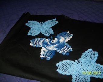 Set of three (3) butterflies in shades of Blue