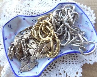 Vintage Jewelry Lot - Chain Destash - Metal Chain - Links from vintage necklaces - Vintage Chain - Long - D238