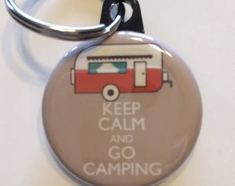 Camper camping keychain 1.25 inch