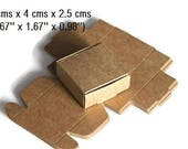 30 pcs - 4 cms x 4 cms x 2.5 cms - Our Tiniest Kraft Box - Wedding Favor Box - Gift Paper Box - Gift Box - Kraft Box - Ready to Ship.
