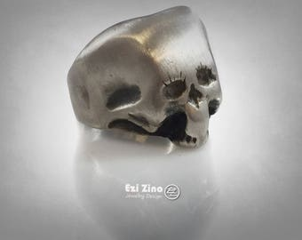 The Elephant Man skull ring solid sterling silver 925 Genuine Ezi Zino