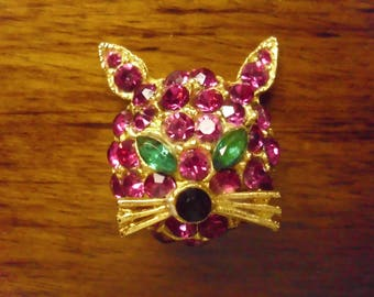 Vintage 1960's  Kitty Cat Pin