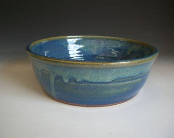 Hand thrown stoneware pottery bowl  (B-R)
