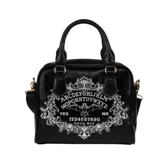 Bat Ouija Shoulder Handbag