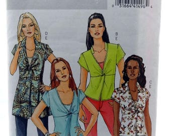 ON SALE Butterick 4986, Misses' Top and Camisole Pattern, Sewing Pattern, Misses Size 8, 10, 12, 14, Uncut