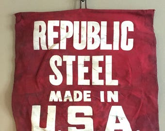 Vintage Republic Steel Flag Sign