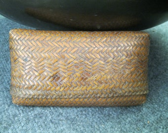 Old Japanese Bamboo hand woven Purse