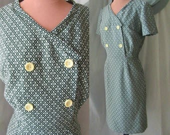 Mod Secretary Dress, Sheath, Stewardess, Side Metal Zipper, Fits Size 8
