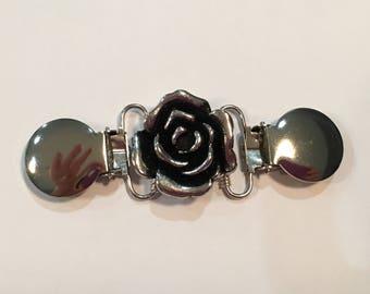 Silver rose Handmade Clothing Cinch Clip