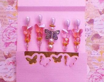 Butterfly Stickpins with Butterfly Matchbook